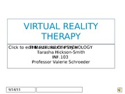 INF.103, WK4 VIRTUAL REALITY THERAPY POWER POINT, Tarasha HS