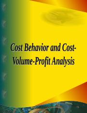 cost behaviour and CVP analysis
