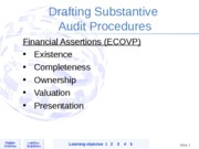 Drafting Substantive & Control Audit Procedures