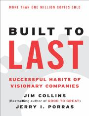 James Charles Collins, Jerry I. Porras-Built to last_ successful habits of visionary companies  -Har