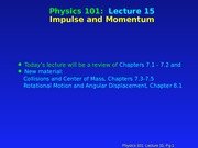 PHY 101 Lecture 15