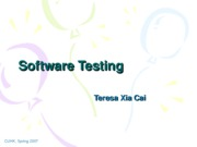 Lecuture 13 Software Testing