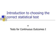 lecture6_Overview of Statistical Tests