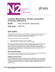 CfE_Unit_N2_LifeskillsMathematics_NumberandNumberProcesses