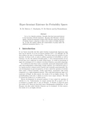 Hyper-Invariant Existence for Probability Spaces