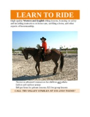 Assignment 3 - Horseback Riding Lessons Flyer