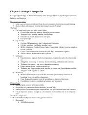 Psychology Chapter 3 Notes