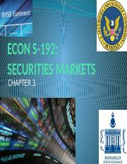 FE445 - Chapter 3 - Securities Markets