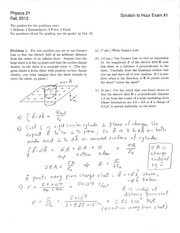 PHYS 21 Fall 2013 Midterm 1 Solutions