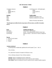 ACC 522 Lecture 1 Notes