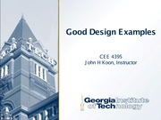 Good Design Examples CEE4395 S2015