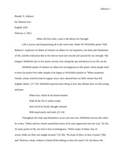 Poetry Essay Final Draft