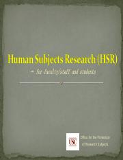Human Subjects Research (USC IRB)