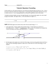 Tutorial 7 - Tunnelling