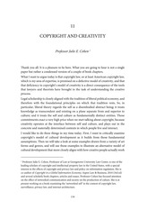 Copyright and creativity