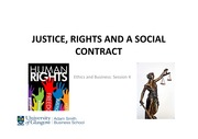 Lecutre on Social Contracts and Justice pertaining to Human Rights