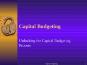 Capital Budgeting Framework