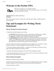tips writing your thesis