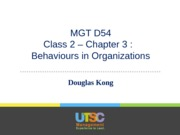 Lecture 2 - Chapter 3