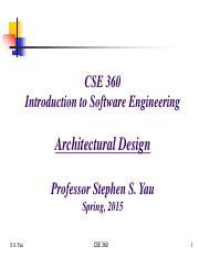 Lecture 12 CSE 360 Spring 2015 - Software Architecture Design.pdf