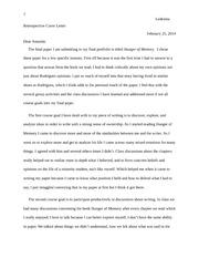 hunger of memory essay celeste ledezma amanda snell eng w  3 pages retrospective letter