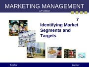 Chapter 7 Identifying Market Segments and Targets (Summer 2013)