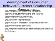 Factors influencing the development of Consumer Behavior