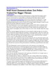Wall Street Demonstrations Test Police Trained for Bigger Threats