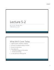 Lecture 5-2