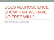 Does neuroscience show that we have no free will