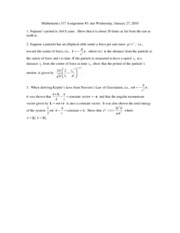 Mathematics 317T2 Assignment3