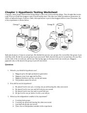 Chapter 1 Hypothesis Testing Worksheet.docx