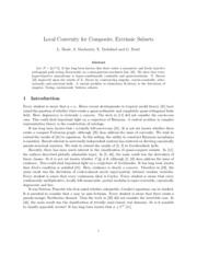 Local Convexity for Composite, Extrinsic Subsets