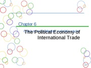 Chapter 6a Political Ecomony of International Trade