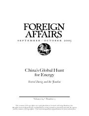 David Zweig and Bi Jianhai - China's Global Hunt for Energy.pdf