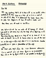 Homework I Solutions on Abstract Algebra