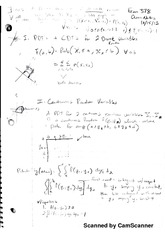 Class notes - Continuous Random Variables