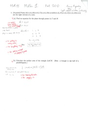 MATH 11 Fall 2010 Midterm Exam 1 Solutions