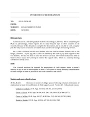 Legal Memorandum - I NTEROFFICE MEMORANDUM TO JULIA DUNLAP FROM ...