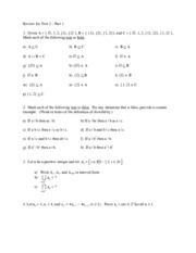 MATH3034, Spring 2015, Rachel Arnold Test 2 Review- Ch. 3 Introduction to Sets