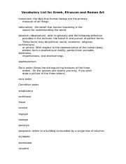 Vocabulary List for Greek and Roman Art.doc