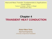 Chapter 4 - Transient Heat Conduction