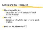 Ethics and CJ Research chapter three