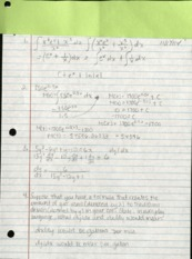 Integrals and Expoents