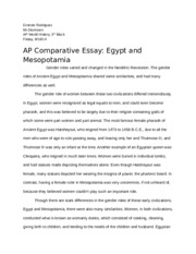 ancient study resources 2 pages ap comparative essay and mesopotamia