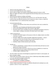 sociology of religion lecture notes essay