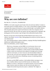 Why use Core inflation
