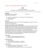 COOP 1000 Sample Co-op Chronological Resume Guidelines - Page |1 ...
