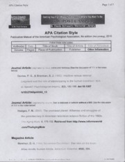 APA Citation Style-How to Cite