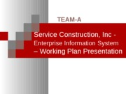 Working plan presentation 02